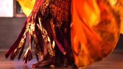 Legong traditional Balinese dance in Jimbaran. Girls dancing balinese dance Stock Footage