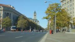 Pennsylvania Avenue NW in Washington DC Stock Footage