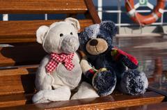 Teddies on a Cruiser Stock Photos