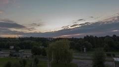 Time lapse sunrise in the city Lviv, Ukraine. Stock Footage