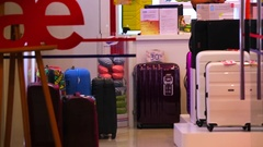 American tourister store front view. Stock Footage