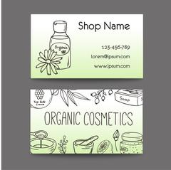 Business with cosmetic bottles. Organic cosmetics illustration Stock Illustration
