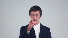 You call me. gesture. Stock Footage