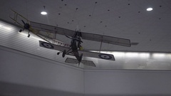 Model airplane ceiling airport zooming out interior San Francisco International Stock Footage