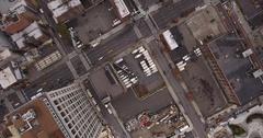 Midtown Manhattan NYC New York Overhead slow angle Stock Footage