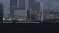 Flood gates closed to protect London city - Brexit Great Britain Stock Footage
