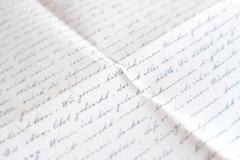 Old handwritten letter - mail, german handwriting Stock Photos