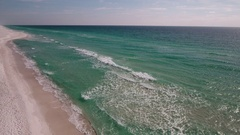 Florida sandy beach along the Gulf of Mexico Stock Footage