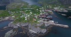 A i Lofoten fishing village Stock Footage