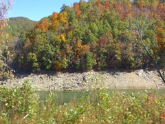 Train ride scenery throught great smoky mountains Stock Footage