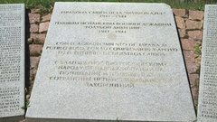 Monument to the fallen Spanish soldiers in Russia Stock Footage