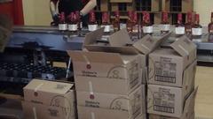 Bottling Maker's Mark Stock Footage