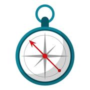 Compass location element camping Stock Illustration