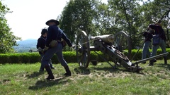 Civil War Napolean Cannon Stock Footage