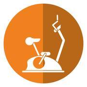 Bike static machine fitness gym shadow Piirros