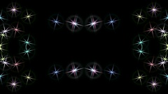 Synchronous movement of stars Stock Footage