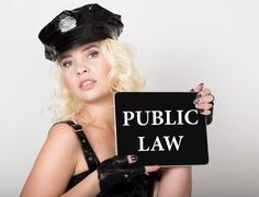 Public law written on screen. technology, internet and networking concept Stock Photos