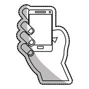 Isolated smartphone device design Stock Illustration