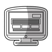 Isolated computer device design Stock Illustration