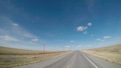 POV Rural Highway Driving Stock Footage