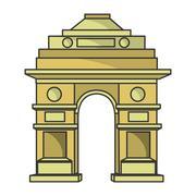 India gate delhi Stock Illustration