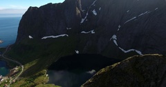 Lofoten lake Reinevatnet Stock Footage