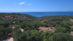 Aerial - Flying above typical landscape of Croatia Stock Footage