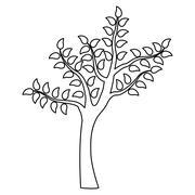 Tree green nature Stock Illustration