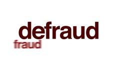 Defraud animated word cloud. Stock Footage