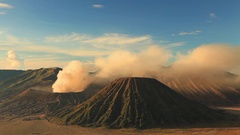 Sunrise at Mount Bromo volcano Stock Footage