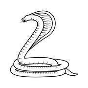 Poisonous Cobra serpent Stock Illustration
