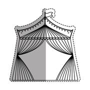 Circus tent festival Stock Illustration