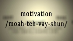 Definition: Motivation Stock Footage