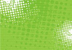 Tech grunge green binary system background Stock Illustration