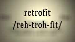 Definition: Retrofit Stock Footage