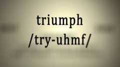 Definition: Triumph Stock Footage