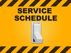 Service Schedule concept Stock Illustration