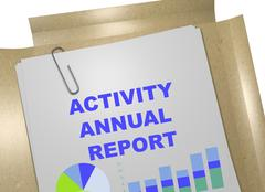 Activity Annual Report - business concept Stock Illustration