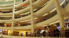 Suria Mall in Kuala Lumpur Stock Footage