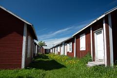 Gammelstad, Lulea, Sweden Stock Photos