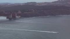 Golden Gate bridge from north side wide Stock Footage