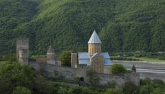 Ananuri Fortress with Church near Tbilisi, Georgia Stock Photos