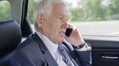 Senior Businessman Talking on Mobile Stock Footage