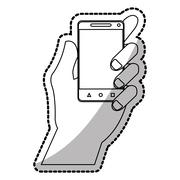 Isolated smartphone device design Stock Illustration