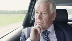 Worrying Politician in Car Stock Footage