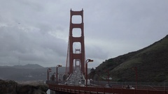 4K UHD Golden Gate Bridge facing south Stock Footage