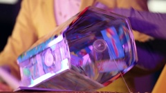 Lottery tickets swirling in the Lotto Stock Footage