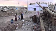 October 2016: Situation in Kobani, war news, ISIS war, SDF, Mosul, Iraq, Syria Stock Footage
