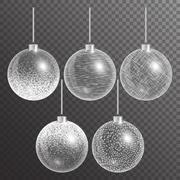Christmas ball isolated Stock Illustration