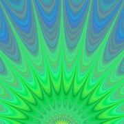 Green sunrise - colorful fractal background Stock Illustration